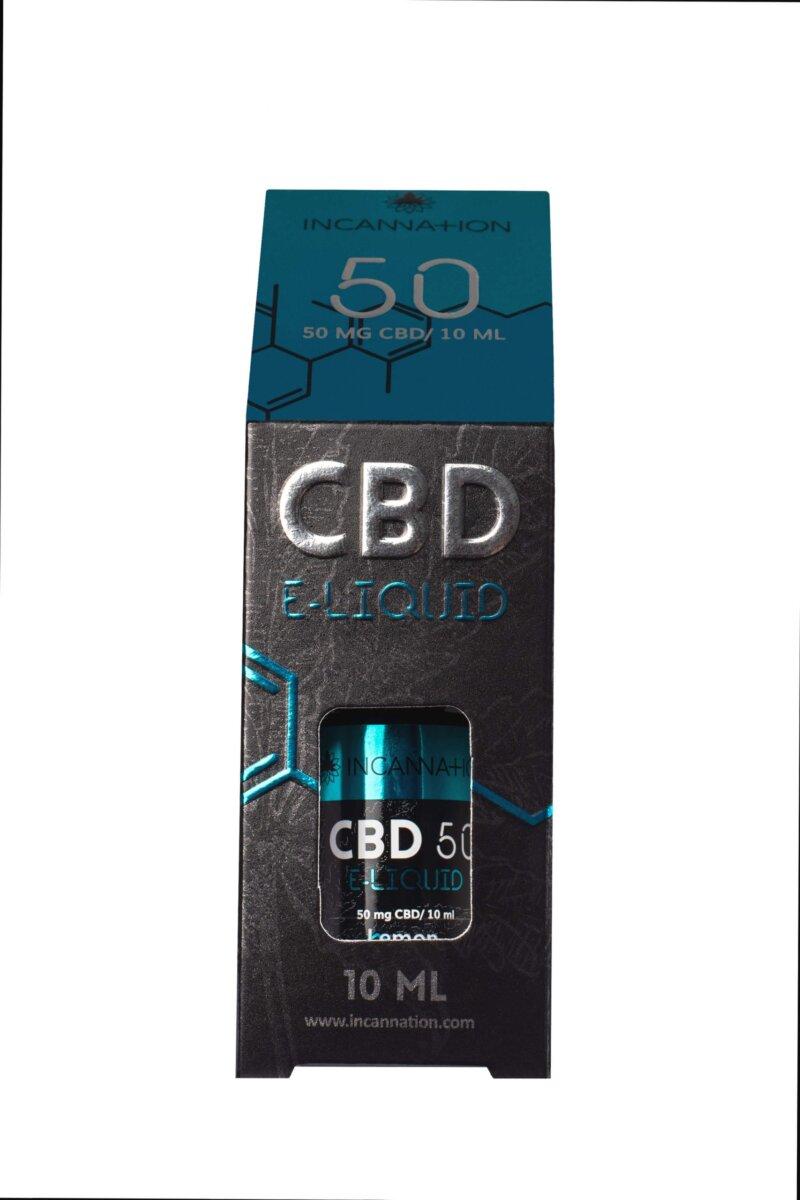 E-Liquid CBD Liquid Lemon 50 mg CBD /10 ml