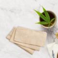 Ręcznik z konopi do masażu i peelingu twarzy